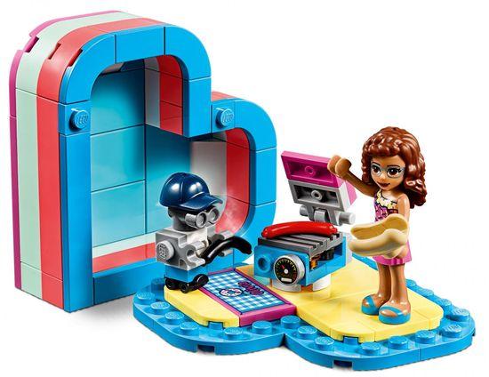 LEGO zestaw Friends 41387 Olivia i letnie pudełko w kształcie serca