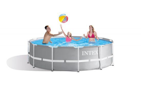 Intex bazen Prism Frame, 366 × 99 cm, s filter kartušo, z lestvijo, 26716NP