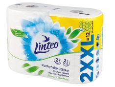 LINTEO Kuchyňské utěrky LINTEO XXL - 2vrstvé - bílé - 2 role