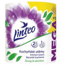 LINTEO Kuchyňské utěrky LINTEO MEGA - 2-vrstvé - bílé - 1 role