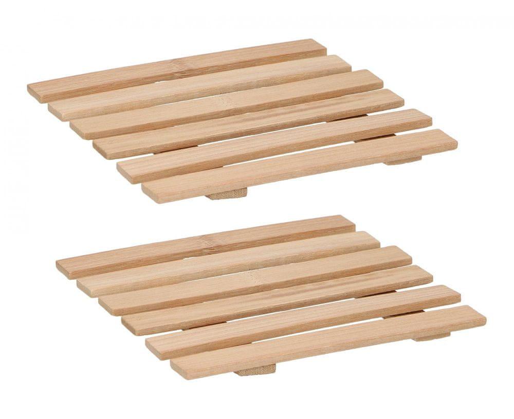 TimeLife Podložka pod horké nádobí (18 × 18 cm), bambus, sada 2 ks