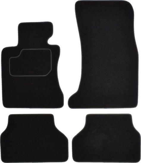 MAMMOOTH Koberce textilní, BMW 5 (E60 a E61) 2003-2010, černé, sada 4 ks