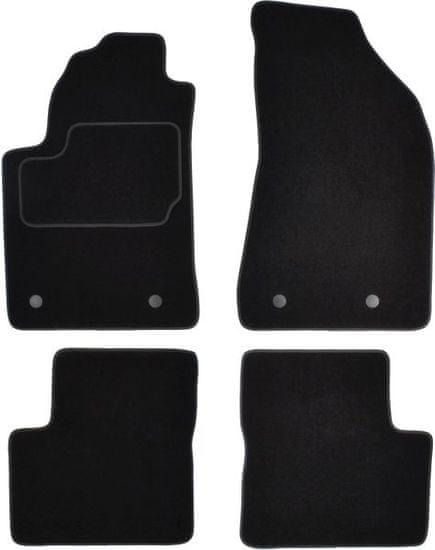 MAMMOOTH Koberce textilní, Fiat Bravo II od r. 2007, černé, sada 4 ks