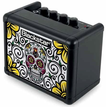 Blackstar Fly 3 Mini Amp Sugar Skull Limited Edition Kytarové tranzistorové kombo