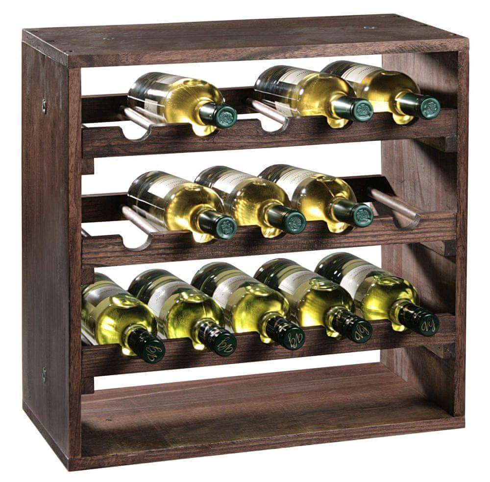 Kesper Stojan na víno až pro 20 lahví, borovice tmavá