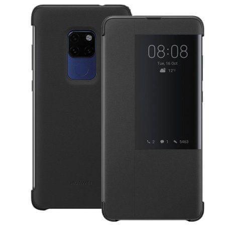 Huawei original preklopna torbica Smart View za Huawei Mate 20, črn z okenčkom