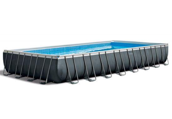 Intex basen Rectangular Ultra Frame XTR 975 × 488 × 132 cm, filtr piaskowy, drabina (26374NP)
