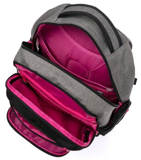 Karton P+P nahrbtnik OXY Style Grey Line Pink, roza