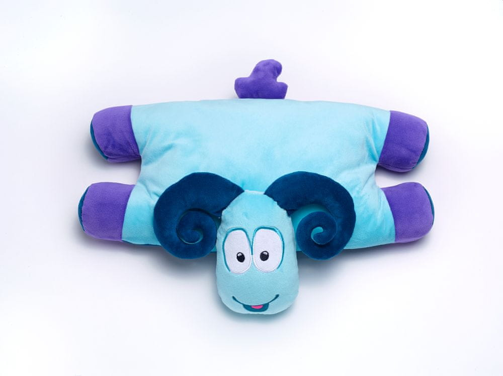 TravelBlue Dětský cestovní polštářek a hračka - Beran Sammy TBU287
