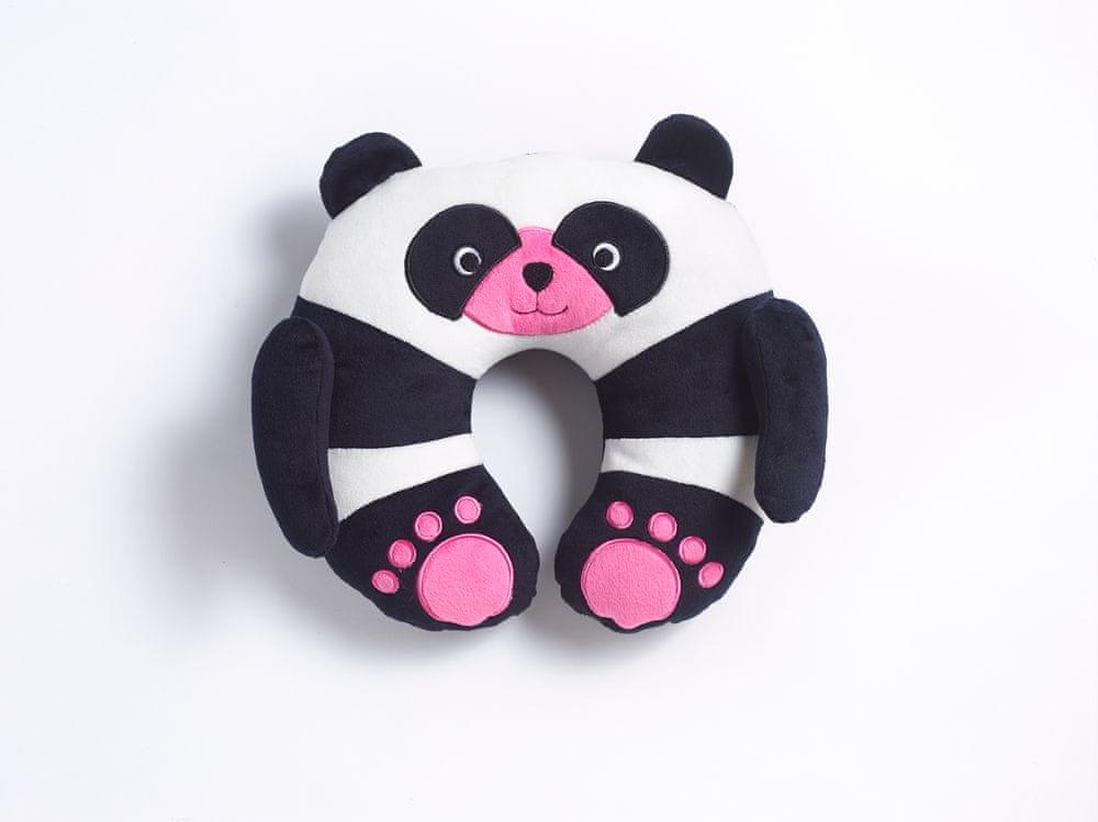 TravelBlue Dětský cestovní krční polštářek a hračka - Panda ChiChi TBU284