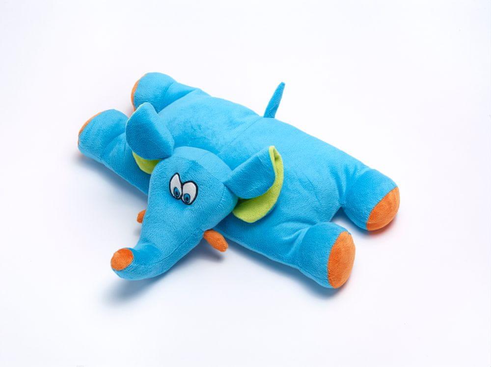 TravelBlue Dětský cestovní polštářek a hračka - Slůně Trunky TBU289