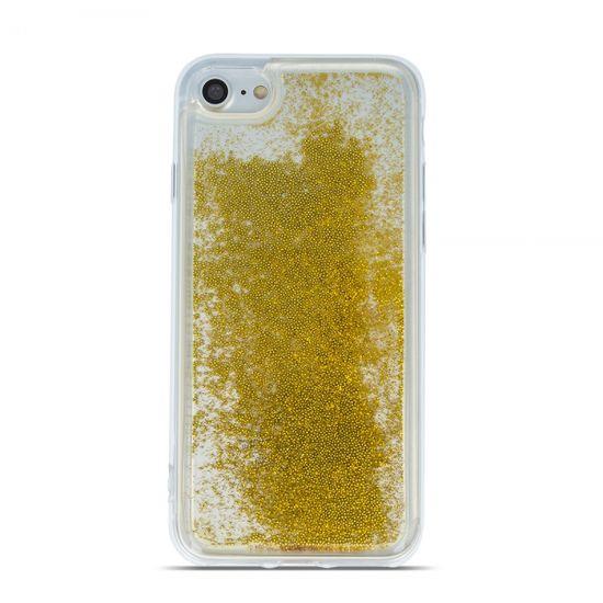 silikonski ovitek za Huawei P30, prozoren z zlatimi perlami