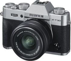 FujiFilm X-T30 fotoaparat + XC 15-45 mm objektiv, srebrn