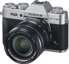 FujiFilm X-T30 fotoaparat, srebrn + XF 18-55 mm objektiv