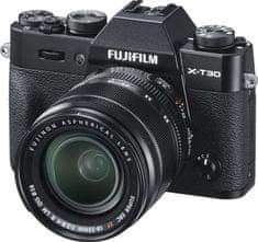 FujiFilm X-T30 fotoaparat, črn + XF 18-55 mm objektiv