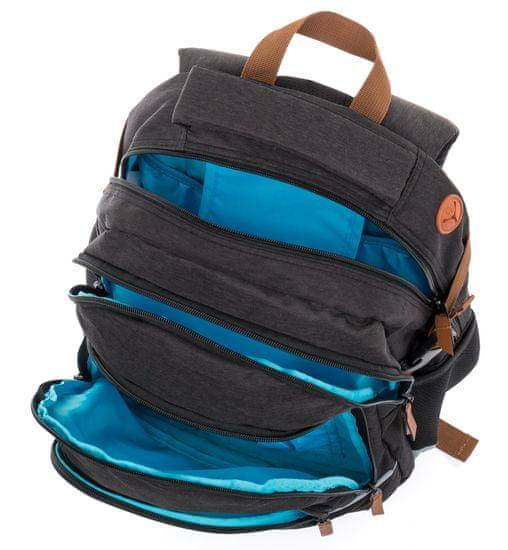 Karton P+P Školní batoh OXY SCOOLER Black