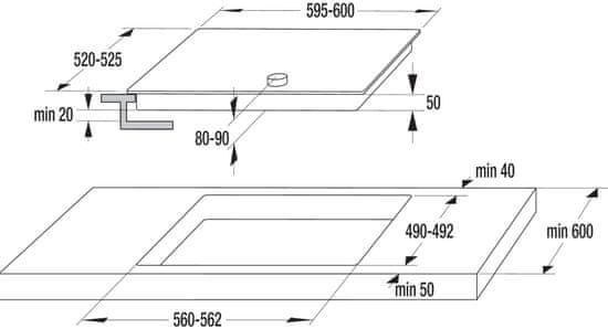 Gorenje steklokeramična kuhalna plošča EC642CLB