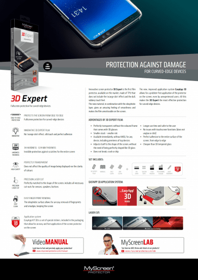 Screenprotector zaščitna folija 3D Expert Samsung Galaxy S10 G973 – super zaščita za ukrivljene ekrane