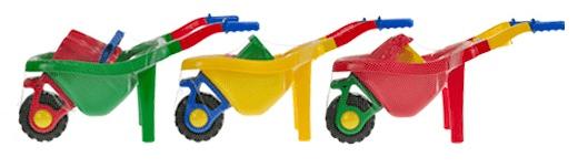 Mikro hračky Kolečko + sada na písek 6ks