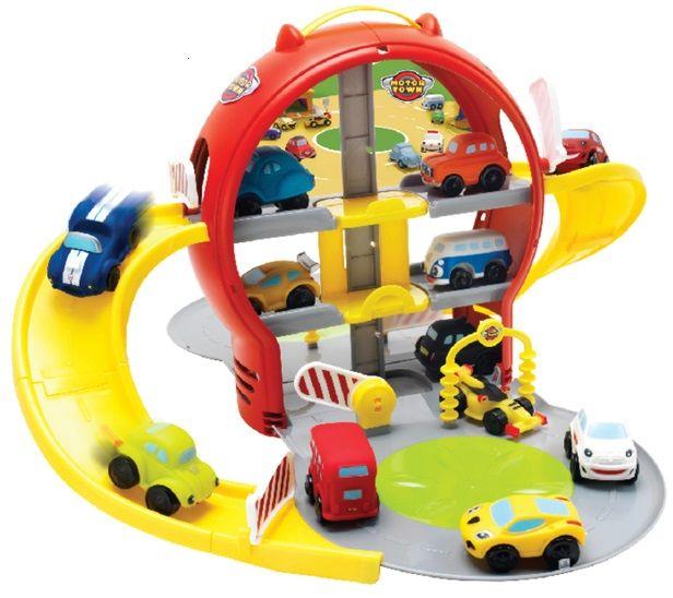 Mikro hračky Parkovací garáž patrová + auto