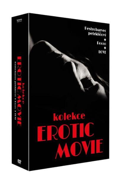 Kolekce EROTIC MOVIE (3DVD): LOVE + Pestrobarvec petrklíčový + Rocco - DVD