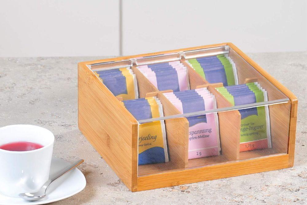 Kesper Úložný box na čaj s víkem