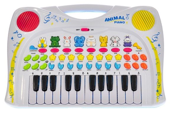 Mikro hračky Pianko se zvířátky 38,5x27,5cm na baterie se zvukem