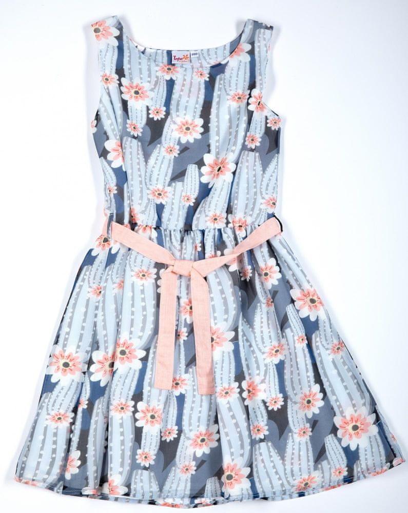 Topo dívčí šaty 146 vícebarevná