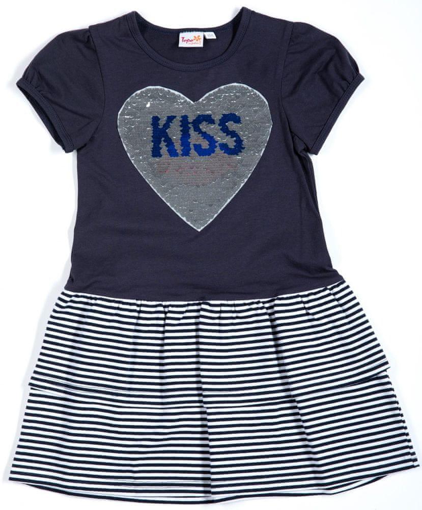 Topo dívčí šaty 146 modrá