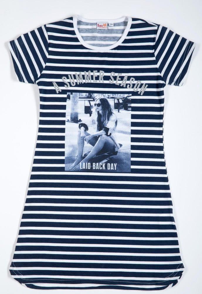 Topo dívčí šaty 164 modrá
