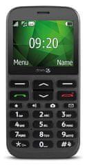 Doro 1370 mobilni telefon, grafit