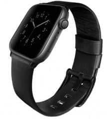 UNIQ Mondain kožený řemínek Apple Watch 44/42mm Midnight, UNIQ-44MM-MONBLK
