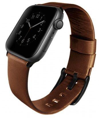 UNIQ Mondain kožený remienok Apple Watch 44 / 42mm Sepia, Uniqa-44mm-MONBWN