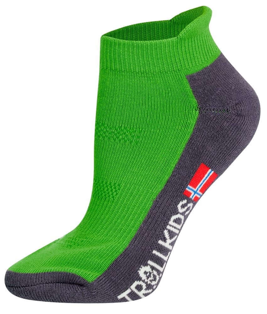 Trollkids dětské nízké ponožky 27 - 30 zelená