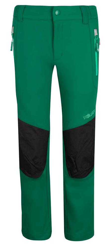 Trollkids dětské softshellové kalhoty 134 zelená