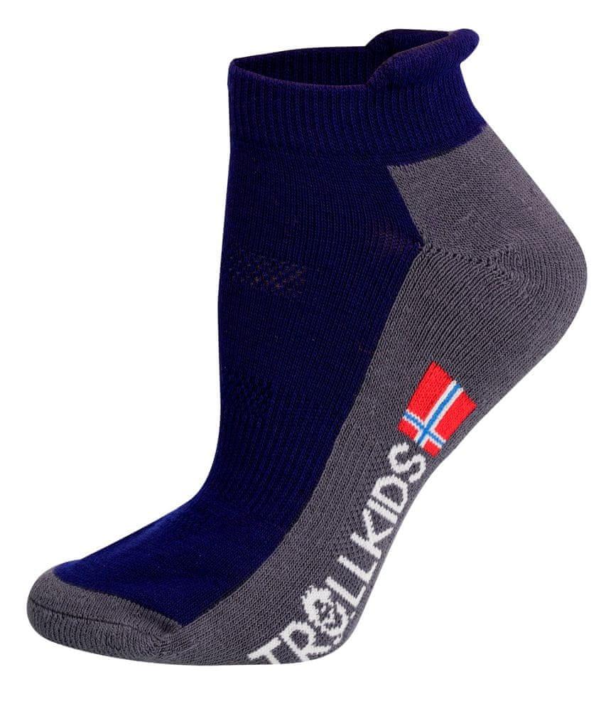 Trollkids dětské nízké ponožky 27 - 30 modrá