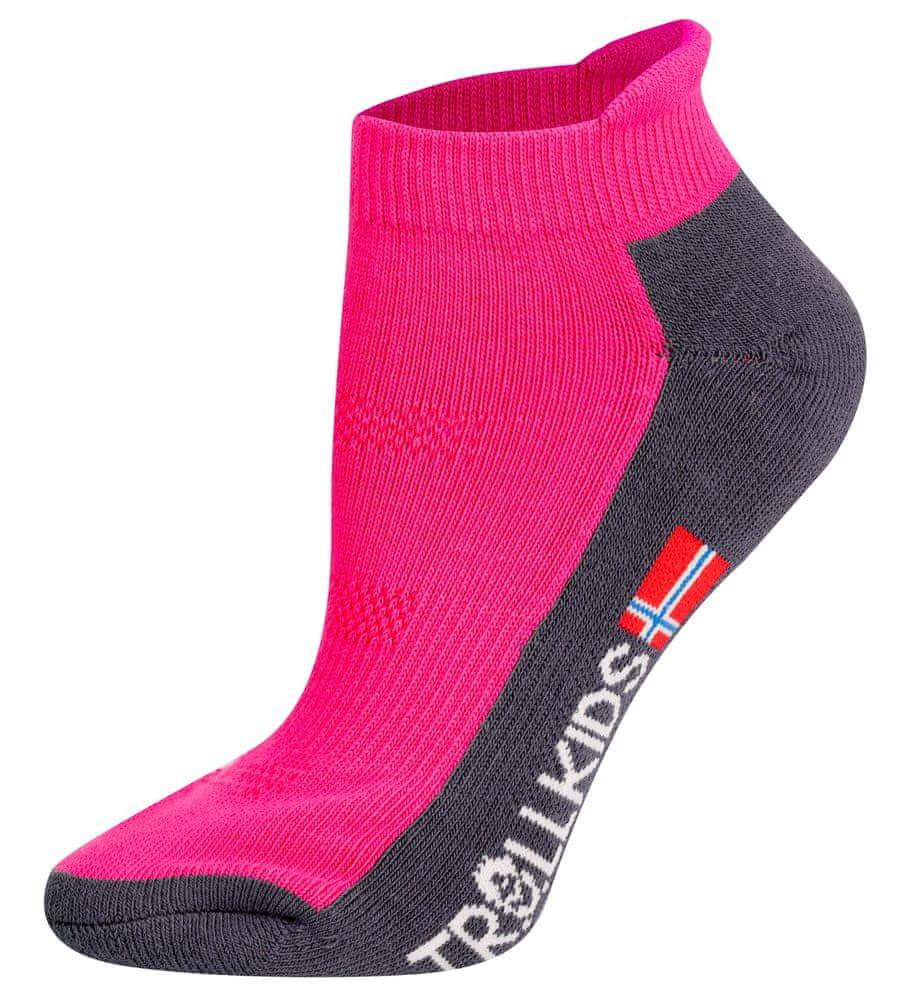 Trollkids dětské nízké ponožky 27 - 30 růžová