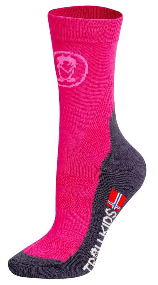 Trollkids dětské ponožky 27 - 30 růžová