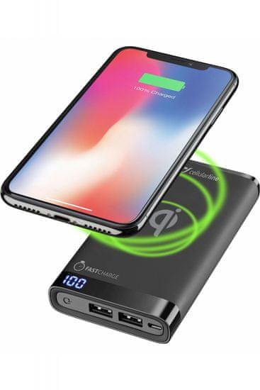 CellularLine prenosna baterija Manta 8000, črna