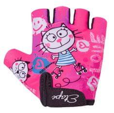 Etape rękawice rowerowe dziecięce Tiny 7-8 Różowe