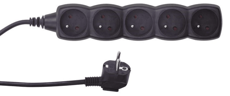 Emos Prodlužovací kabel, 5 zásuvek, 3 m, černý