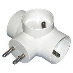 Emos Zásuvka rozbočovací 3× kulatá, bílá