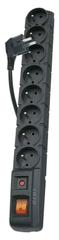 EMOS przedłużacz 8 gniazd, 1,5 m, czarna