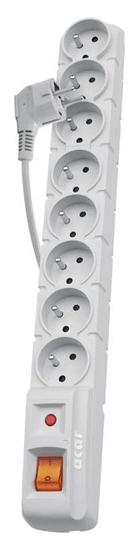 Emos EMOS Přepěťová ochrana 8 zásuvek, 1,5 m, šedá, P53898