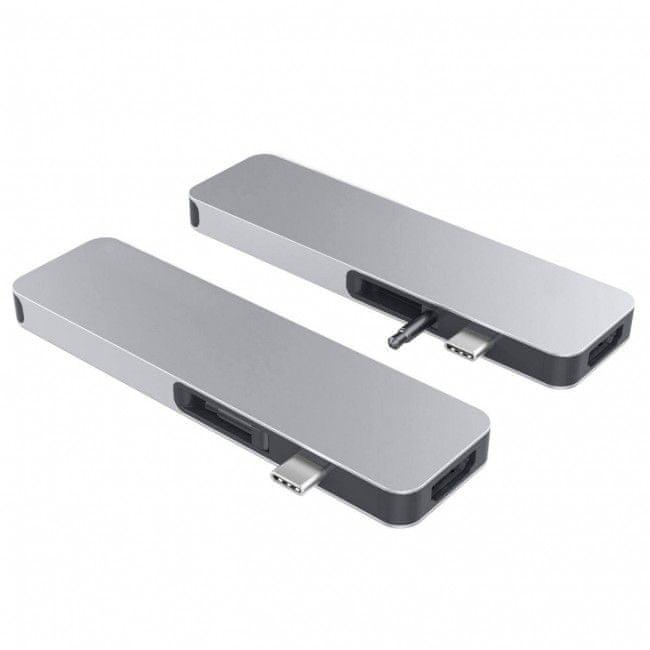 Hyper HyperDrive SOLO USB-C Hub pro MacBook a ostatní USB-C zařízení - Stříbrný, HY-GN21D-SILVER