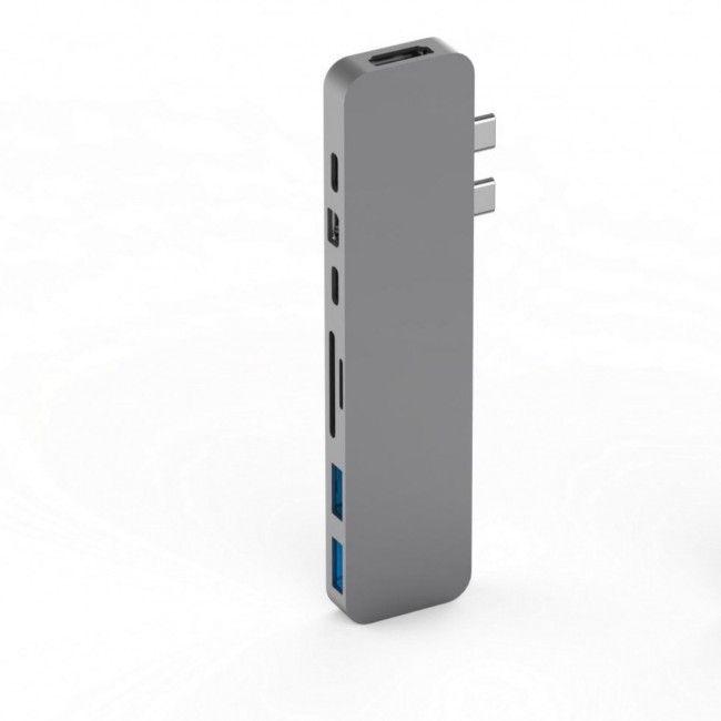 Hyper HyperDrive PRO USB-C Hub pro MacBook Pro - Space Gray, HY-GN28D-GRAY