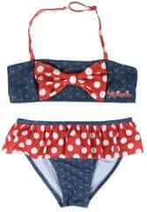 Disney dívčí plavky Minnie 128 červená/modrá