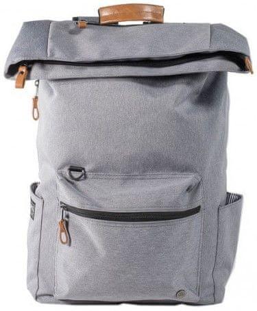 "PKG Brighton Laptop Backpack 15"" PKG-BRIGHTON-LGRY, světle šedý"