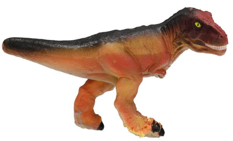 Mikro hračky Dinosaurus líhnoucí a rostoucí ve vajíčku MEGA 20cm,krémová