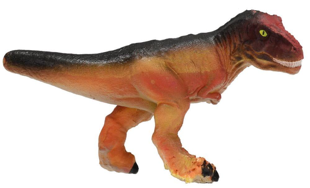 Mikro hračky Dinosaurus líhnoucí a rostoucí ve vajíčku MEGA 20cm,bílá